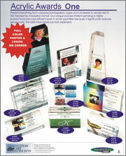 Cost-effective 4 colour acrylic awards