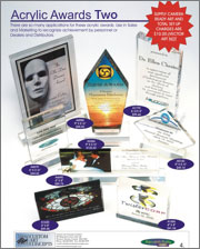 Acrylic designs in 4 colours perfect for recognition and achievement awards