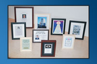 FSC certified framed certificates